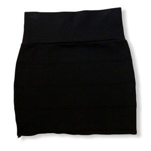 Black bandage skirt